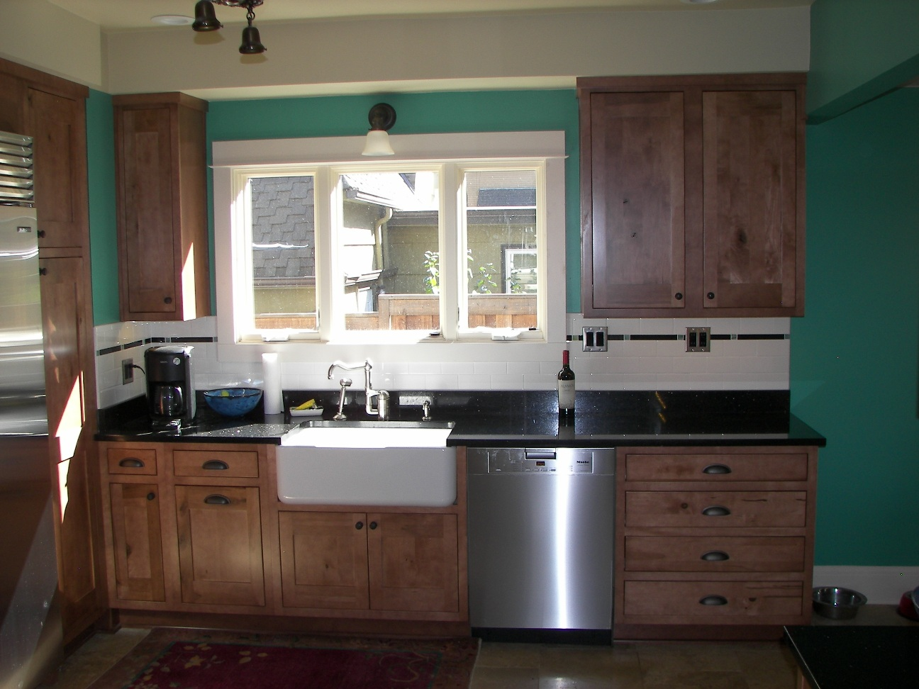 We Used Roll Outs Where Ever We Could To Give Total Access To The Cabinets.  There Is Also A Cookie Sheet Cabinet And A Recycle Bin.